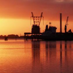 Tiwai wharf sunrise